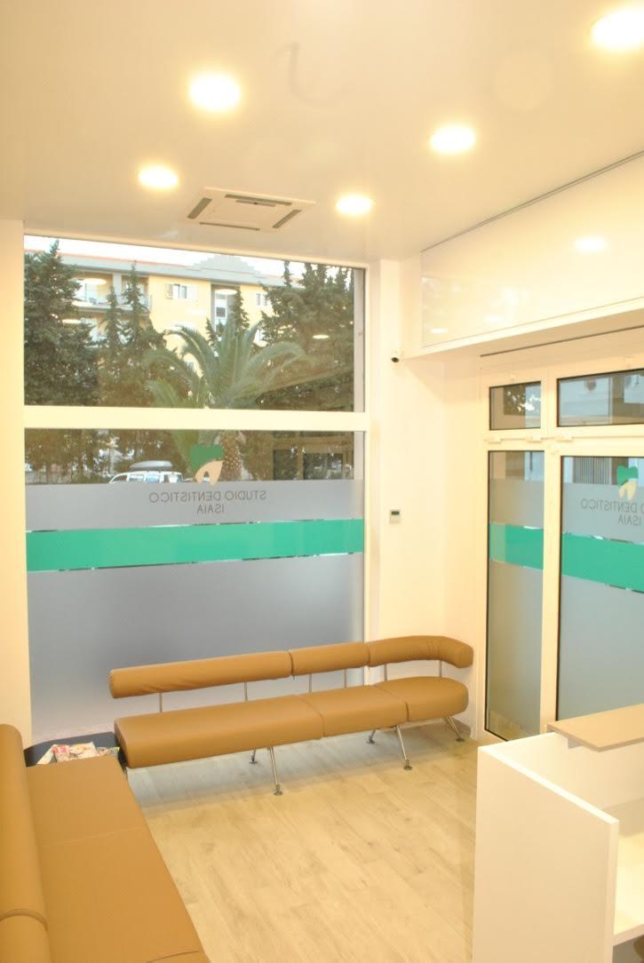 Sala d'attesa dello studio isaia